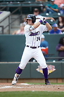 Gavin Sheets (24) of the Winston-Salem Dash at bat against the Salem Red Sox at BB&T Ballpark on April 22, 2018 in Winston-Salem, North Carolina.  The Red Sox defeated the Dash 6-4 in 10 innings.  (Brian Westerholt/Four Seam Images)