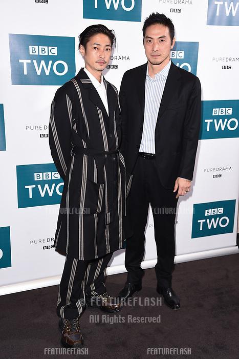"LONDON, UK. September 25, 2019: Yosuke Kubozuka & Takehiro Hira at the"" GIRI/HAJI"" screening at the Curzon Bloomsbury, London.<br /> Picture: Steve Vas/Featureflash"