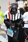 Feb. 27, 2011 - Tokyo, Japan - A man dressed in a Star Wars Darth Vader costume takes part in the Tokyo Marathon. (Photo by Daiju Kitamura/AFLO SPORT)