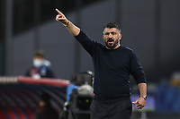 Gennaro Gattuso coach of SSC Napoli gestures<br /> during the Serie A football match between SSC Napoli and AC Milan at stadio San Paolo in Napoli (Italy), November 22, 2020. <br /> Photo Cesare Purini / Insidefoto