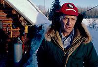 Checker Joe Delia at Skwenta Checkpoint Iditarod Race AK