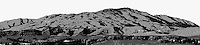 Panoramic image of Mount Diablo converted to black and white and processed for graphic impression.