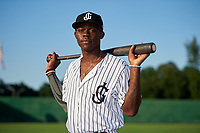 Jackson Generals Jazz Chisholm (3) poses for a photo before a Southern League game against the Mississippi Braves on July 23, 2019 at The Ballpark at Jackson in Jackson, Tennessee.  Mississippi defeated Jackson 1-0 in the second game of a doubleheader.  (Mike Janes/Four Seam Images)