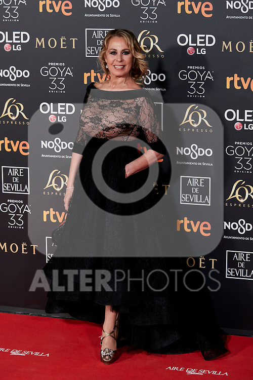 Miriam Diaz-Aroca attends to 33rd Goya Awards at Fibes - Conference and Exhibition  in Seville, Spain. February 02, 2019. (ALTERPHOTOS/A. Perez Meca)