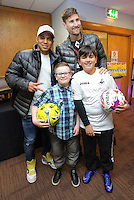 Pictured: Jefferson Montero and Federico Fernandez Tuesday 06 December 2016<br />Re: Swansea City FC Christmas Party at the Liberty Stadium, Wales, UK