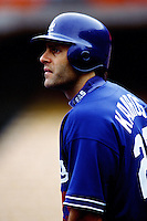 Eric Karros of the Los Angeles Dodgers during a game at Dodger Stadium circa 1999 in Los Angeles, California. (Larry Goren/Four Seam Images)
