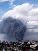Massive Fire near Pandacan, Santa Ana and Mandaluyong Manila, Philippines on Feb 01, 2020.
