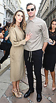 Guests at the Salvatore Ferragamo Fashion Show during the Milan's Fashion Week Women's wear Spring Summer 2019, in Milan on September 22, 2018. Elizabeth Chambers, Armie Hammer