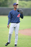 March 20th 2008:  Sandy Mendez of the Cleveland Indians minor league system during Spring Training at Chain of Lakes Training Complex in Winter Haven, FL.  Photo by:  Mike Janes/Four Seam Images