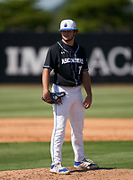 IMG Academy Ascenders pitcher Mason Albright (11) during a game against the Canterbury Cougars on April 21, 2021 at IMG Academy in Bradenton, Florida.  (Mike Janes/Four Seam Images)