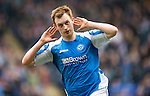 St Johnstone v Motherwell.....19.05.13      SPL.Liam Craig celebrates his goal.Picture by Graeme Hart..Copyright Perthshire Picture Agency.Tel: 01738 623350  Mobile: 07990 594431