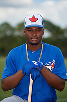 Toronto Blue Jays Orelvis Martinez (16) poses for a photo after a Minor League Extended Spring Training game against the Detroit Tigers on May 23, 2019 at TigerTown in Lakeland, Florida.  (Mike Janes/Four Seam Images)