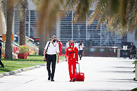 26th March 2021; Sakhir, Bahrain; F1 Grand Prix of Bahrain, Free Practice sessions;  STEINER Guenther (ita), Team Principal of Haas F1 team, MEKIES Laurent (fra), Racing Director of the Scuderia Ferrari during Formula 1 Gulf Air Bahrain Grand Prix 2021