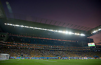 A general view of the Itaquerao stadium during the opening fixture of the 2014 FIFA World Cup
