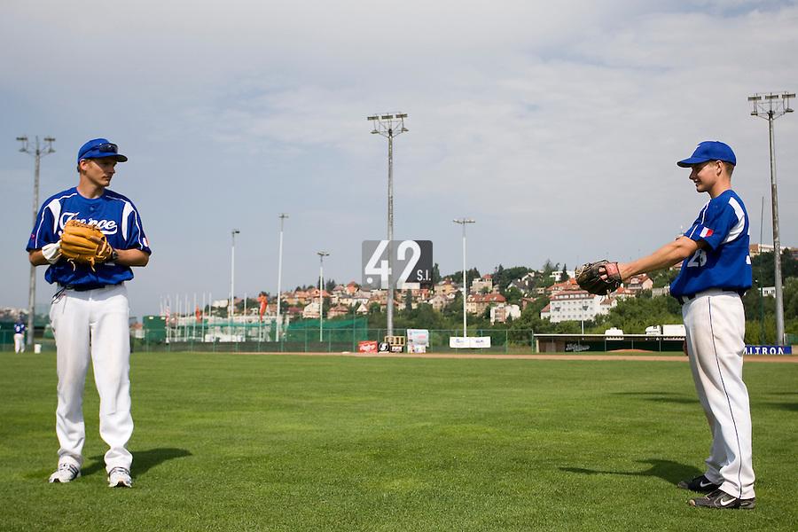BASEBALL - GREEN ROLLER PARK - PRAGUE (CZECH REPUBLIC) - 25/06/2008 - PHOTO: CHRISTOPHE ELISE. (TEAM FRANCE)