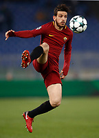 Football Soccer: UEFA Champions League AS Roma vs Qarabag FK Stadio Olimpico Rome, Italy, December 5, 2017. <br /> Roma's Alessandro Florenzi in action during the Uefa Champions League football soccer match between AS Roma and Qarabag FK at at Rome's Olympic stadium, December 05, 2017.<br /> UPDATE IMAGES PRESS/Isabella Bonotto