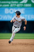 Trenton Thunder right fielder Zack Zehner (63) runs the bases during the first game of a doubleheader against the Bowie Baysox on June 13, 2018 at Prince George's Stadium in Bowie, Maryland.  Trenton defeated Bowie 4-3.  (Mike Janes/Four Seam Images)