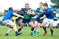 Saturday 10th October 2020 | Ballynahinch vs Queens<br /> <br /> Ross Adair on the attack during the Energia Community Series clash between Ballynahinch and Queens at Ballymacarn Park, Ballynahinch, County Down, Northern Ireland. Photo by John Dickson / Dicksondigital