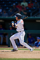 Jacksonville Jumbo Shrimp Brian Miller (5) pinch hits during a Southern League game against the Tennessee Smokies on April 29, 2019 at Baseball Grounds of Jacksonville in Jacksonville, Florida.  Tennessee defeated Jacksonville 4-1.  (Mike Janes/Four Seam Images)