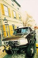 Amérique/Amérique du Nord/USA/Etats-Unis/Vallée du Delaware/Pennsylvanie/Philadelphie : Dans Elfreth's Alley - Ruelle début 18ème de la vieille ville