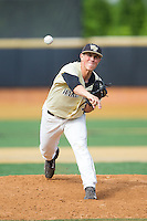 Wake Forest Demon Deacons relief pitcher Parker Dunshee (36) in action against the Virginia Cavaliers at Wake Forest Baseball Park on May 17, 2014 in Winston-Salem, North Carolina.  The Demon Deacons defeated the Cavaliers 4-3.  (Brian Westerholt/Four Seam Images)