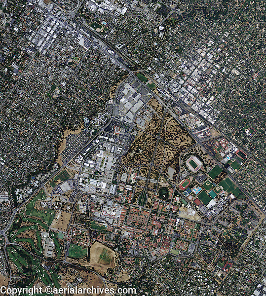 aerial photo map Stanford University, Palo Alto, California, 2009.  <br /> <br /> To obtain current or historical aerial photography of Stanford for a specific project, please submit our research request form available at:<br /> <br /> http://www.aerialarchives.com/download/GeoResearchForm.pdf.