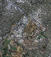 aerial photo map Stanford University, Palo Alto, California, 2009.  <br />