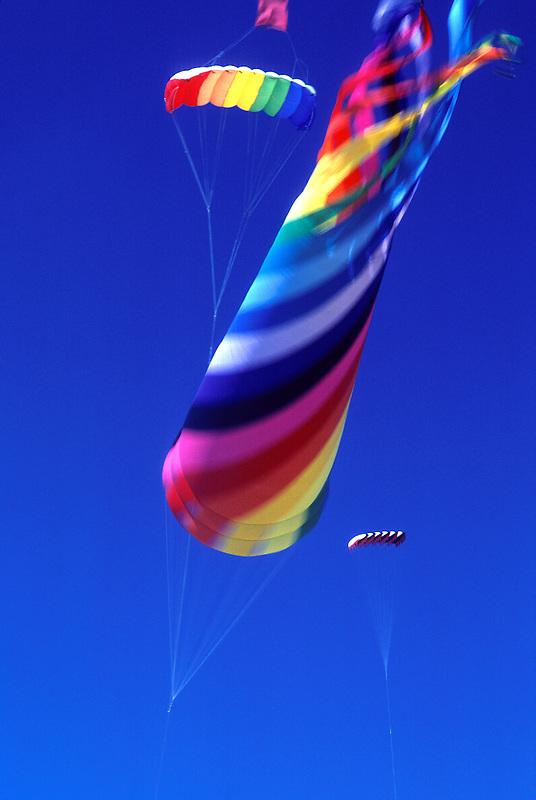 F00027.tiff    Giant wind sock and kite on beach near Lincoln City, Oregon