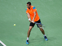 Rotterdam, The Netherlands. 14.02.2014. ABN AMRO World Tennis Tournament Marin Cilic(KRO) in his match against Andy Murray(GRB)<br /> Photo:Tennisimages/Henk Koster
