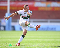 5th September 2020; Kingsholm Stadium, Gloucester, Gloucestershire, England; English Premiership Rugby, Gloucester versus London Irish; Paddy Jackson of London Irish converts a try