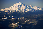 Aerial of Mount Rainier, Washington