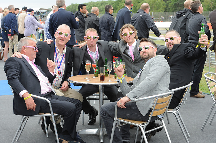Guests enjoying the Corinthian Sports hospitality boxes during the British Grand Prix final qualifying sessions at Silverstone on Saturday 15th July 2017 (Photo by Rob Munro/Stewart Communications)