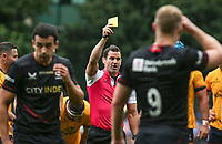Thursday 9th September 20218 <br /> <br /> Referee Karl Dickson during the pre-season friendly between Saracens and Ulster Rugby at the Honourable Artillery Company Grounds, Armoury House, London, England. Photo by John Dickson/Dicksondigital