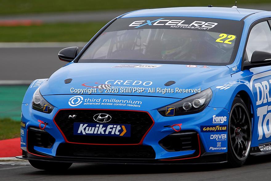 2020 British Touring Car Championship Media day. #22 Chris Smiley. Excelr8 Motorsport. Hyundai i30N.