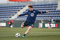 WIENER NEUSTADT, AUSTRIA - MARCH 25: Josh Sargent #9 of the United States before a game between Jamaica and USMNT at Stadion Wiener Neustadt on March 25, 2021 in Wiener Neustadt, Austria.