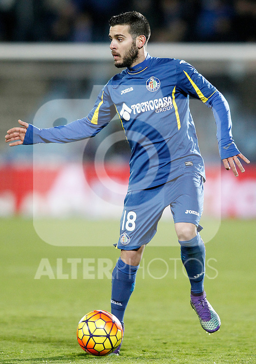 Getafe's Victor Rodriguez during La Liga match. February 14,2016. (ALTERPHOTOS/Acero)