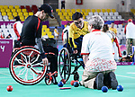 Marco Dispaltro and Alison Levine competes in  Boccia at the 2019 ParaPan American Games in Lima, Peru-1aug2019-Photo Scott Grant