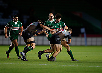 9th September 2020; Twickenham Stoop, London, England; Gallagher Premiership Rugby, London Irish versus Harlequins; Ross Neal of London Irish is challenged by James Lang of Harlequins