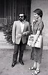 ISABELLA ROSSELLINI E MARTIN SCORSESE<br /> HOTEL EDEN ROMA 1978