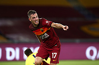 Football, Serie A: AS Roma - Juventus, Olympic stadium, Rome, September 27, 2020. <br /> Roma's Jordan Veretout celebrates after scoring his second goal in the match during the Italian Serie A football match between Roma and Juventus at Olympic stadium in Rome, on September 27, 2020. <br /> UPDATE IMAGES PRESS/Isabella Bonotto