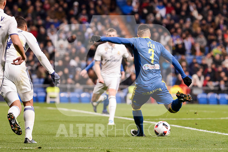Celta de Vigo's Theo Bongonda during Copa del Rey match between Real Madrid and Celta de Vigo at Santiago Bernabeu Stadium in Madrid, Spain. January 18, 2017. (ALTERPHOTOS/BorjaB.Hojas)