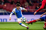 Unai Bustinza, Bustinza M (L), of CD Leganes vies for the ball with Jorge Resurreccion Merodio, Koke, of Atletico de Madrid  during the La Liga 2017-18 match between Atletico de Madrid and CD Leganes at Wanda Metropolitano on February 28 2018 in Madrid, Spain. Photo by Diego Souto / Power Sport Images