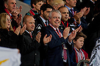 Wednesday 4th  December 2013 Pictured: First Minister Carwyn Jones <br /> Re: UEFA European Championship Wales v Cyprus at the Cardiff City Stadium, Cardiff, Wales, UK