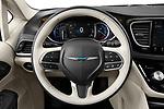 Car pictures of steering wheel view of a 2021 Chrysler Pacifica-Hybrid LIMITED 5 Door Minivan Steering Wheel