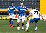 Kilmarnock v St Johnstone…09.04.16  Rugby Park, Kilmarnock<br />David Wotherspoon is closed down by Lee Hodson<br />Picture by Graeme Hart.<br />Copyright Perthshire Picture Agency<br />Tel: 01738 623350  Mobile: 07990 594431