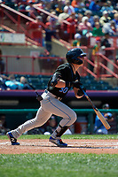 Akron RubberDucks Mitch Longo (30) at bat during an Eastern League game against the Erie SeaWolves on June 2, 2019 at UPMC Park in Erie, Pennsylvania.  Erie defeated Akron 8-5 in eleven innings of the second game of a doubleheader.  (Mike Janes/Four Seam Images)