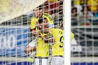 Colombia's Edwin Cardona, James Rodriguez and Radamel Falcao celebrate goal during international friendly match. June 7,2017.(ALTERPHOTOS/Acero) (NortePhoto.com) (NortePhoto.com)