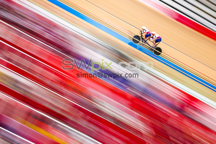 Picture by Alex Whitehead/SWpix.com - Tokyo 2020 Paralympics - 25/08/2021 - Track Cycling - Izu Velodrome, Izu, Japan - Steve Bate piloted by Adam Duggleby of Great Britain during the Men's B 4000m Individual Pursuit qualifying.