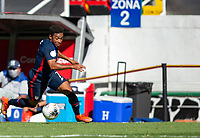 GUADALAJARA, MEXICO - MARCH 28: Jonathan Lewis #7 of the United States moves towards the box during a game between Honduras and USMNT U-23 at Estadio Jalisco on March 28, 2021 in Guadalajara, Mexico.