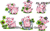 Interlitho-Theresa, NY, paintings+++++,6 pigs,KL4610,#ny#, EVERYDAY ,sticker,stickers, new year's eve ,pig,pigs